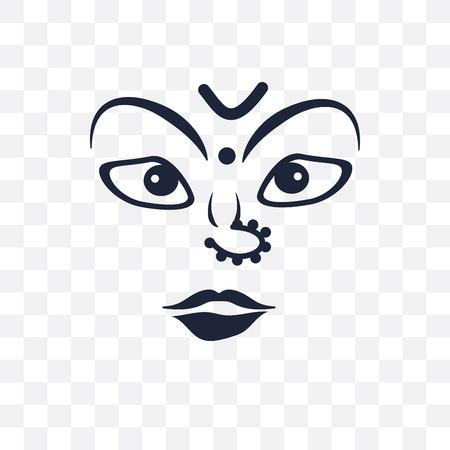 navratri transparent icon. navratri symbol design from India collection. Simple element vector illustration on transparent background.