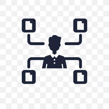 Multitask transparent icon. Multitask symbol design from Time managemnet collection.