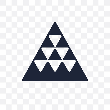 Multiple triangles triangle transparent icon. Multiple triangles triangle symbol design from Geometry collection. Simple element vector illustration on transparent background.