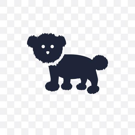 Bichon Frise dog transparent icon. Bichon Frise dog symbol design from Dogs collection. Simple element vector illustration on transparent background.
