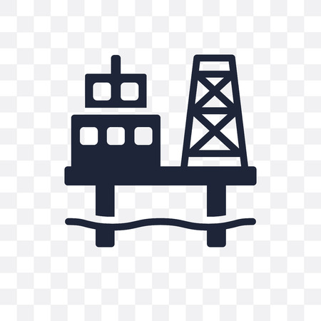 Oil platform transparent icon. Oil platform symbol design from Industry collection. Simple element vector illustration on transparent background.