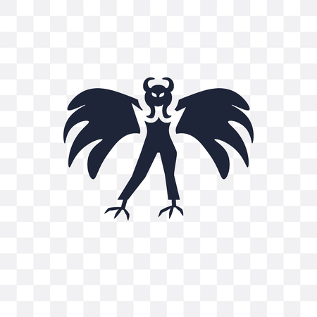 Harpy transparent icon. Harpy symbol design from Fairy tale collection. Simple element vector illustration on transparent background.