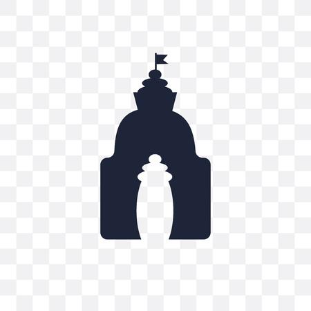 odisha transparent icon. odisha symbol design from India collection. Simple element vector illustration on transparent background. Illustration