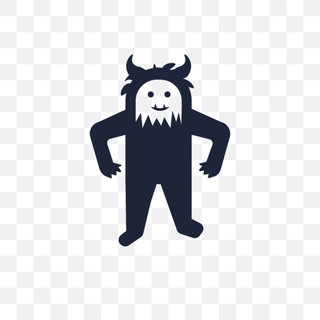 Yeti transparent icon. Yeti symbol design from Fairy tale collection. Simple element vector illustration on transparent background.