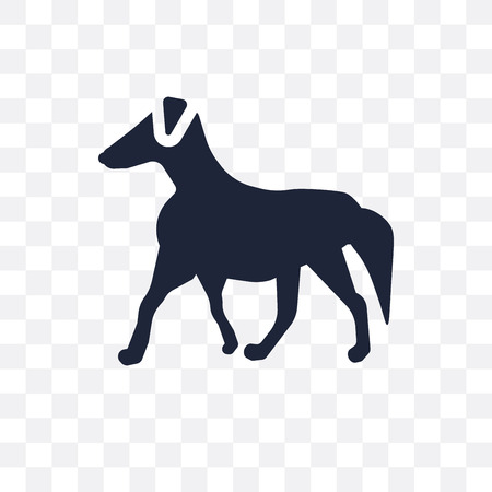 Borzoi dog transparent icon. Borzoi dog symbol design from Dogs collection. Simple element vector illustration on transparent background.