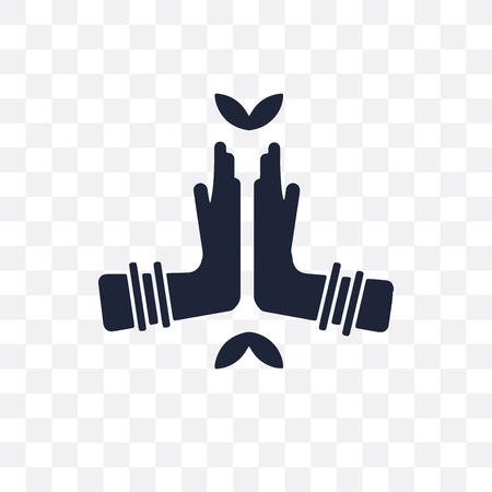 Namaste transparent icon. Namaste symbol design from India collection. Simple element vector illustration on transparent background.