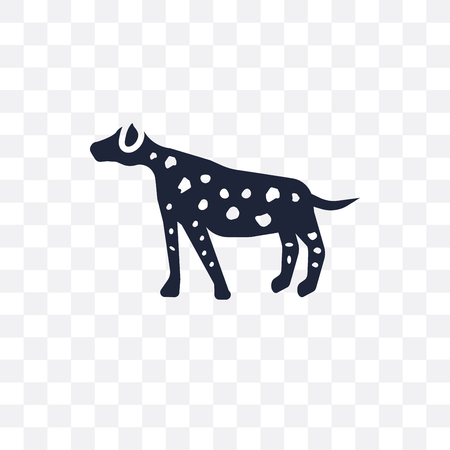 Dalmatian dog transparent icon. Dalmatian dog symbol design from Dogs collection. Simple element vector illustration on transparent background. Illustration