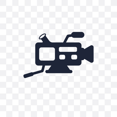 Video camera transparent icon. Video camera symbol design from Electronic devices collection.