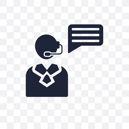 customer service advice transparent icon and symbol design Illusztráció