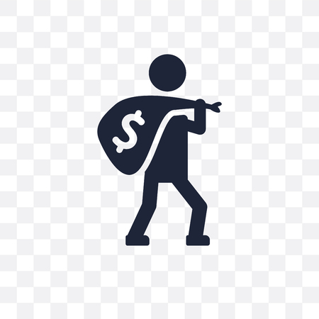 Robbery transparent icon and symbol design