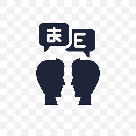 Translator transparent icon. Translator symbol design from Online learning collection.