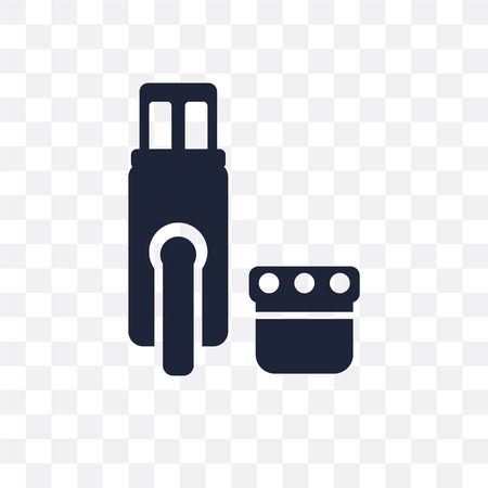 Pendrive transparent icon. Pendrive symbol design from Electronic devices collection. Illustration