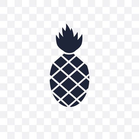 Pineapple transparent icon. Pineapple symbol design from Fruit and vegetables collection. Simple element vector illustration on transparent background.