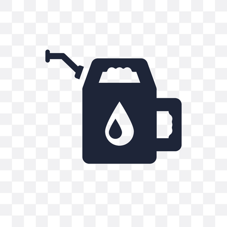 Gasoline transparent icon. Gasoline symbol design from Ecology collection. Simple element vector illustration on transparent background.