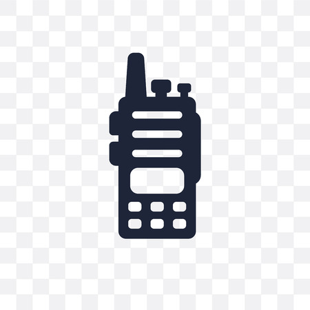 Walkie talkie transparent icon. Walkie talkie symbol design from Electronic devices collection.