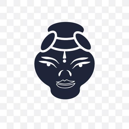 Kathakali transparent icon. Kathakali symbol design from India collection. Simple element vector illustration on transparent background. Illustration