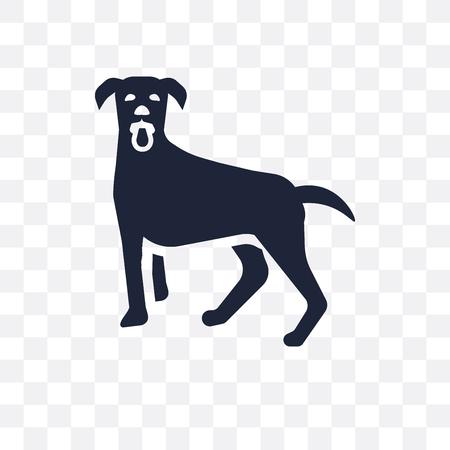 Vizsla dog transparent icon. Vizsla dog symbol design from Dogs collection. Simple element vector illustration on transparent background.