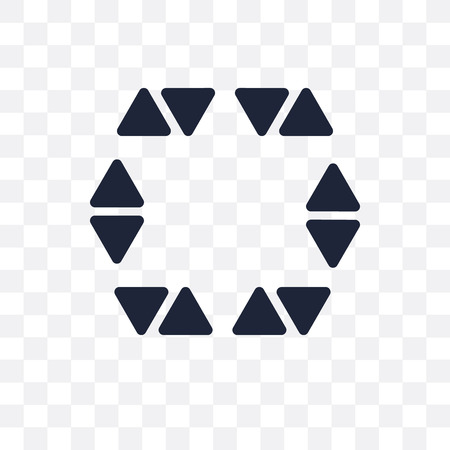 Star in hexagon of small triangles transparent icon. Symbol design from Geometry collection. Simple element vector illustration on transparent background. Illustration