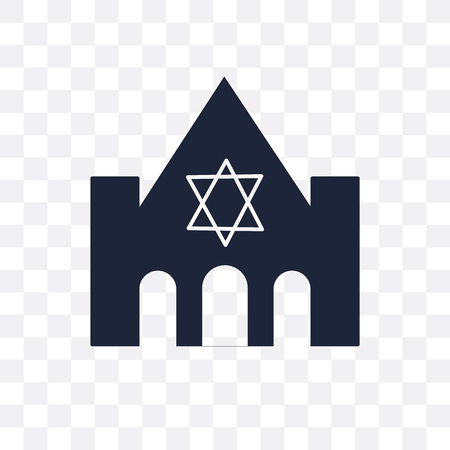 Synagogue, a worship house transparent icon and symbol design from Religion collection. Simple element vector illustration on transparent background.