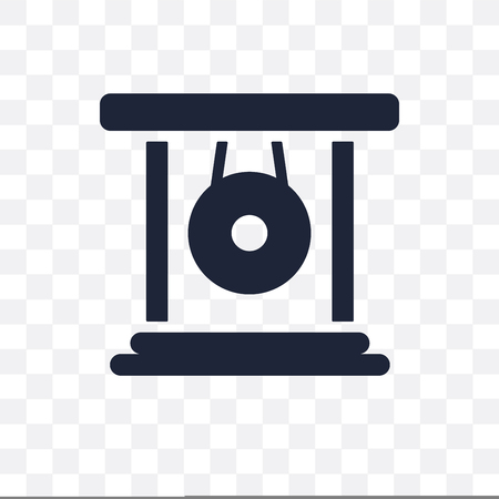 Gong transparent icon. Gong symbol design from Music collection. Simple element vector illustration on transparent background.