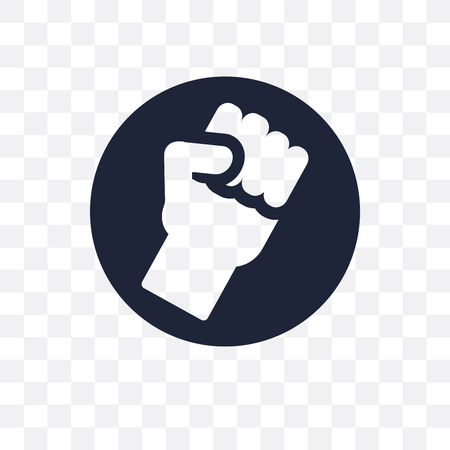 Fist transparent icon. Fist symbol design from Success collection. Simple element vector illustration on transparent background. Иллюстрация
