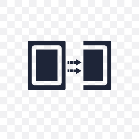 Duplicate transparent icon. Duplicate symbol design from SEO collection. Simple element vector illustration on transparent background.  イラスト・ベクター素材