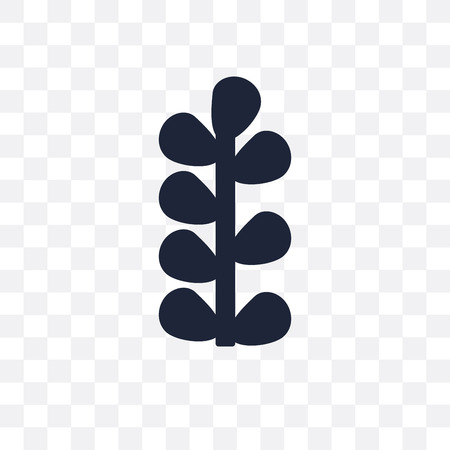 Botanical plant transparent icon and symbol