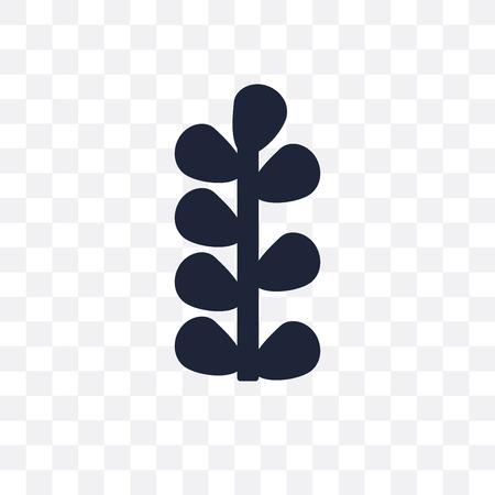 Botanical plant transparent icon and symbol