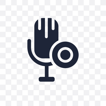 Microphone transparent icon and symbol design