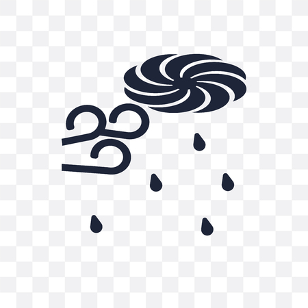 typhoon transparent icon. typhoon symbol design from Weather collection. Simple element vector illustration on transparent background. Illustration