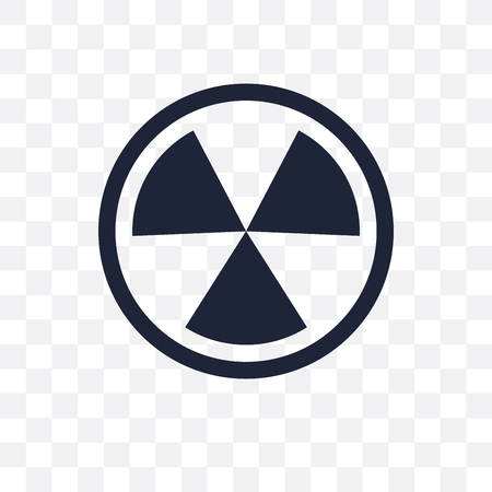 Nuclear sign transparent icon. Nuclear sign symbol design from Traffic signs collection. Simple element vector illustration on transparent background.