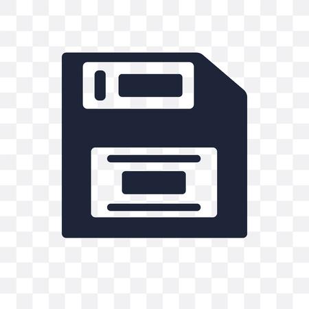 Floppy disk transparent icon. Floppy disk symbol design from Programming collection. Simple element vector illustration on transparent background.