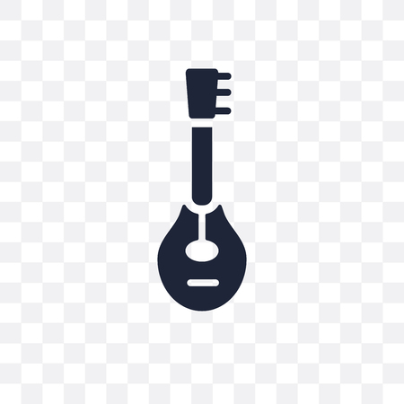 Mandolin transparent icon. Mandolin symbol design from Music collection. Simple element vector illustration on transparent background.