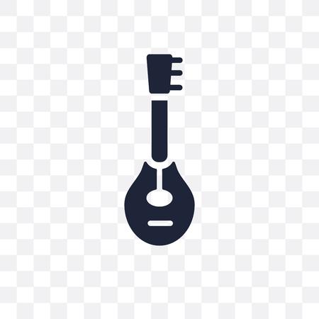 Mandolin transparent icon. Mandolin symbol design from Music collection. Simple element vector illustration on transparent background.