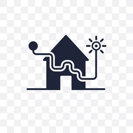 alarm system transparent icon. alarm system symbol design from Smarthome collection. Simple element vector illustration on transparent background.