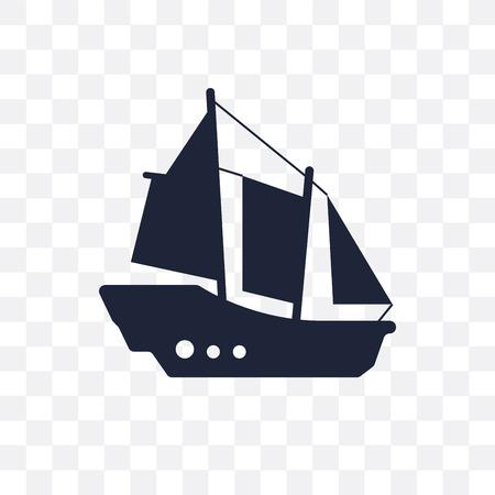 schooner transparent icon. schooner symbol design from Transportation collection.