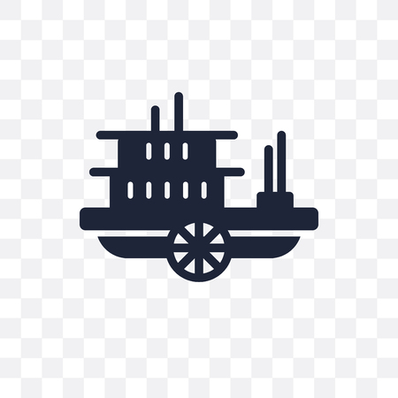 paddlewheeler transparent icon. paddlewheeler symbol design from Transportation collection.