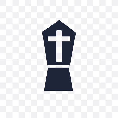 Tombstone transparent icon. Tombstone symbol design from Religion collection. Simple element vector illustration on transparent background.