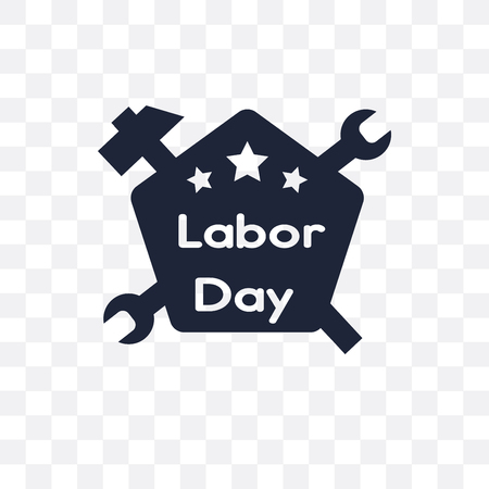 Labor Day transparent icon. Labor Day symbol design from United states of america collection. Simple element vector illustration on transparent background. Standard-Bild - 115113183