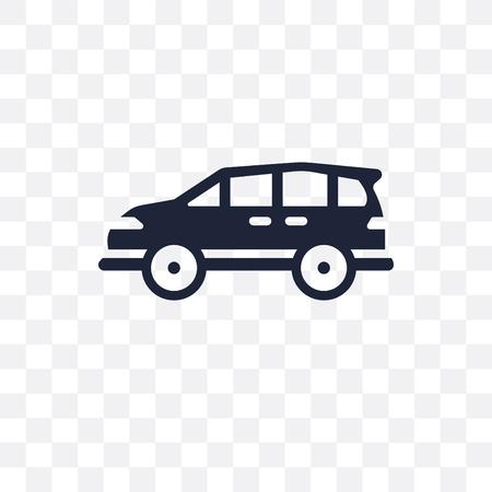 minivan transparent icon. minivan symbol design from Transportation collection. Standard-Bild - 115113185