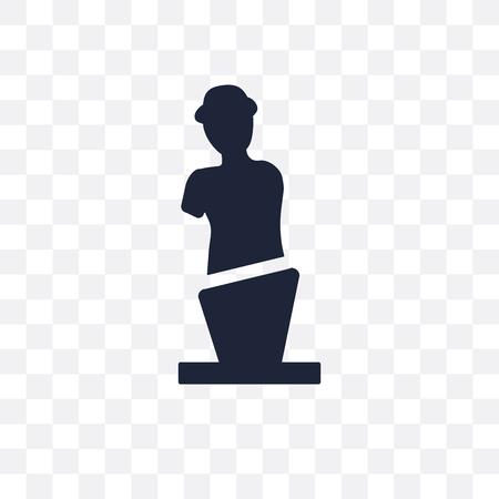 Venus de milo transparent icon and symbol design from sculpture collection. Simple element vector illustration on transparent background. Standard-Bild - 116839827