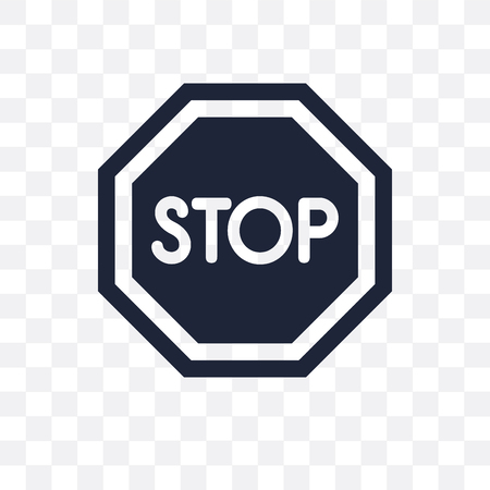 Stop sign transparent icon. Stop sign symbol design from Traffic signs collection. Simple element vector illustration on transparent background.