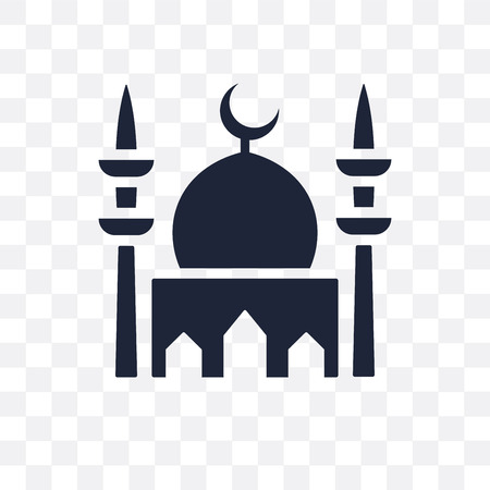 Mosque transparent icon. Mosque symbol design from Religion collection. Simple element vector illustration on transparent background.