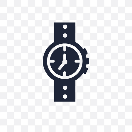 Water Resist Watch transparent icon. Water Resist Watch symbol design from Nautical collection. Simple element vector illustration on transparent background. Standard-Bild - 115113191