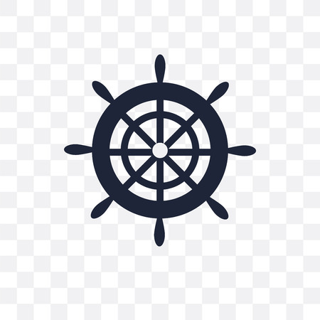 Boat Steering Wheel transparent icon. Boat Steering Wheel symbol design from Nautical collection. Simple element vector illustration on transparent background. Standard-Bild - 115113512