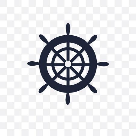 Boot-Lenkrad transparentes Symbol. Bootslenkrad-Symboldesign aus der nautischen Kollektion. Einfache Elementvektorillustration auf transparentem Hintergrund.