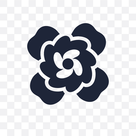 Gardenia transparent icon. Gardenia symbol design from Nature collection. Simple element vector illustration on transparent background.  イラスト・ベクター素材
