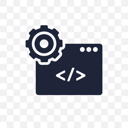 Web development transparent icon. Web development symbol design from SEO collection. Simple element vector illustration on transparent background. Standard-Bild - 115113514