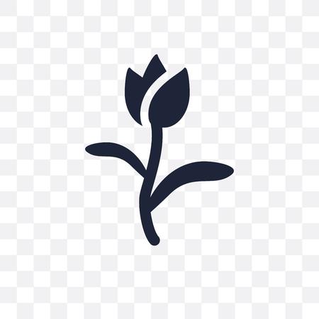 Tulip transparent icon. Tulip symbol design from Nature collection. Simple element vector illustration on transparent background. Illustration