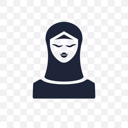 Muslim transparent icon. Muslim symbol design from Religion collection. Simple element vector illustration on transparent background. Ilustração